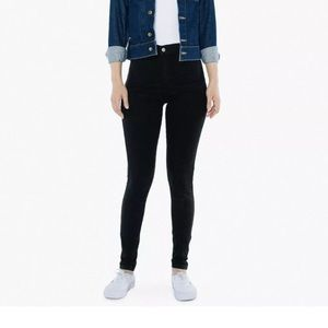 American apparel Black easy jean pencil skinny 00